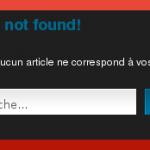 Page erreur 404 wordpress