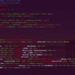 Capture vim en editant du html