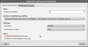 Onglet 1 startup manager ubuntu