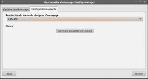 Onglet 2 startup manager ubuntu